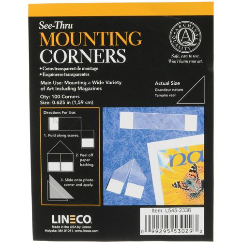 Lineco Archival Mounting Corners - 5/8