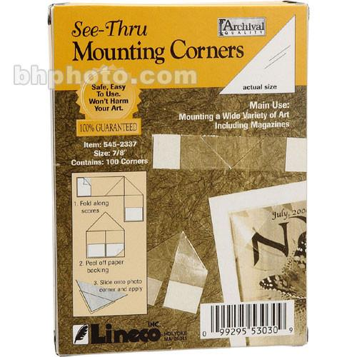 Lineco Archival Mounting Corners - 7/8