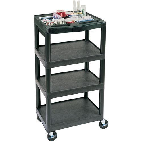 Luxor 4-Shelf General Purpose Utility Cart, Model MTC40DN-B