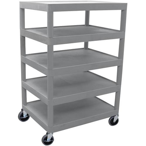 Luxor 5-Shelf Banquet Cart, Model BC55G (Gray) BC55-G