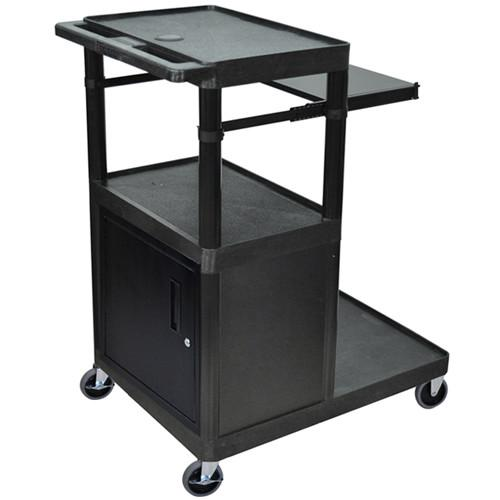 Luxor LT45PCG - Three Shelf Presentation Cart LT45PC-B