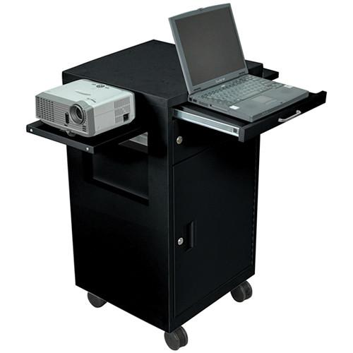 Luxor Multimedia Cart with Locking Cabinet, Model LMC2B LMC2-B