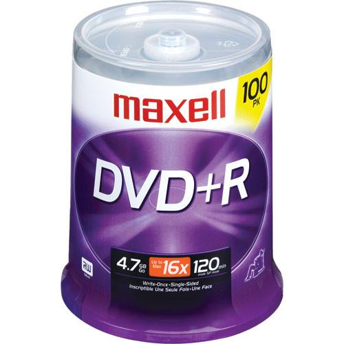 Maxell  DVD R 4.7GB, 16x Disc (100) 639016