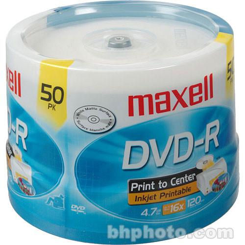 Maxell DVD-R Inkjet Printable Recordable Disc 638022
