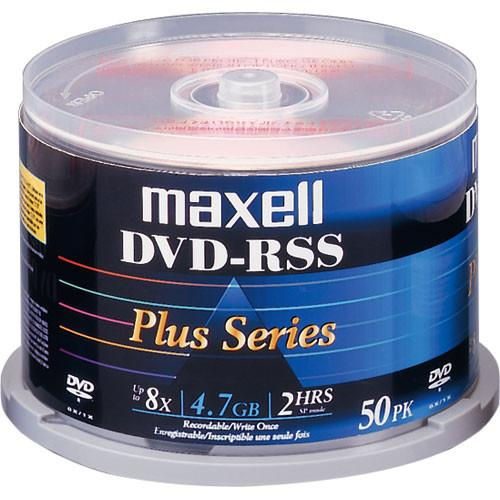 Maxell DVD-RSS 4.7GB, Shiny Silver, Thermal Printable 635078