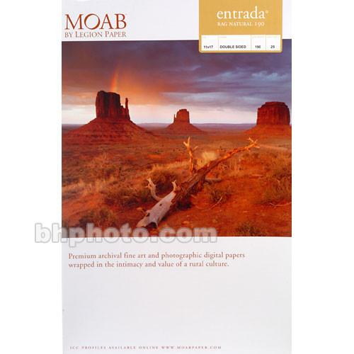Moab Entrada Rag Natural 190 (Matte, 2-sided) R08-ERN190111725