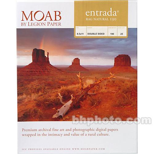 Moab Entrada Rag Natural 190 Paper for Inkjet R08-ERN190851125