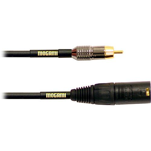 Mogami Gold XLR Male to RCA Male Patch Cable - GOLD XLRM-RCA-12