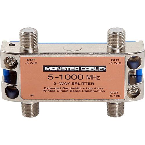 Monster Cable Standard 3 Way RF Splitter For CATV Signals 127777