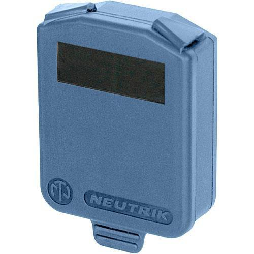 Neutrik Hinged Cover for D-Size Chassis-Blue SCDX-6-BLUE