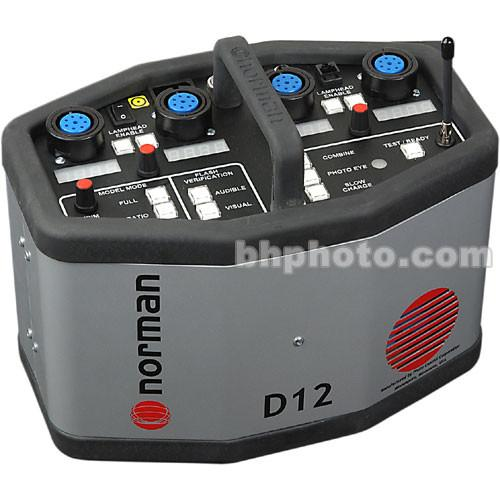 Norman D12R Rapid Power Pack with Radio Slave - 1200 W/S 810710