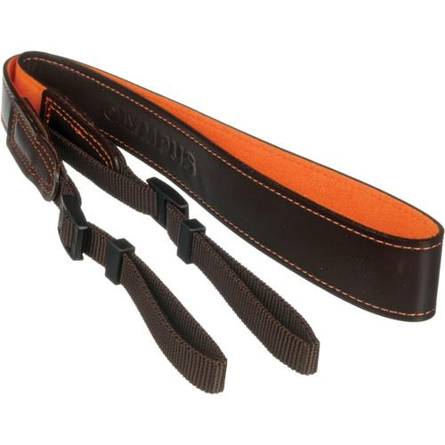 Olympus  Leather Neck Strap (Dark Brown) 260247