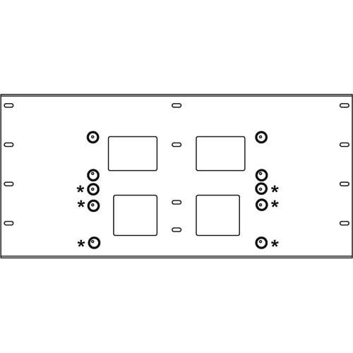 Peerless-AV Triple Stud Wall Plate, Model WSP-716 (Black) WSP716