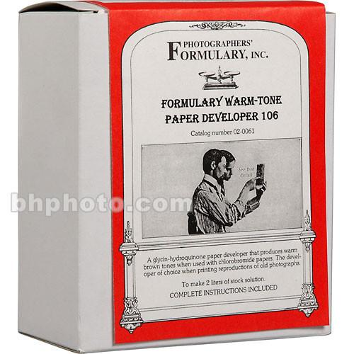 Photographers' Formulary 106 Developer for Black & 02-0061