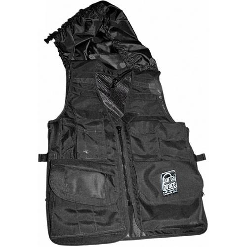 Porta Brace Video Vest with Hood (X-Large, Black) VV-XLBLH