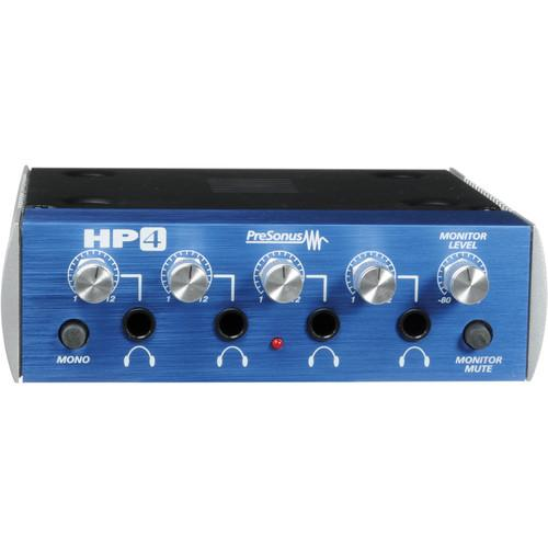 PreSonus HP4 - 4-Channel Headphone Distribution Amplifier HP4