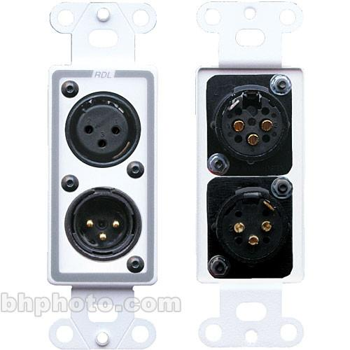 RDL D-XLR2 Decora Wall Plate with XLR 3-Pin Female & D-XLR2