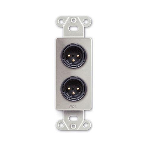 RDL DS-XLR2M Decora Wall Plate with Dual XLR 3-Pin Male DS-XLR2M
