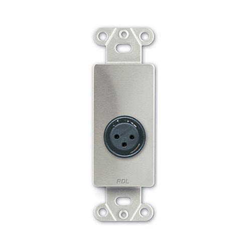 RDL DS-XLR3F Decora Wall Plate with XLR 3-Pin Female DS-XLR3F