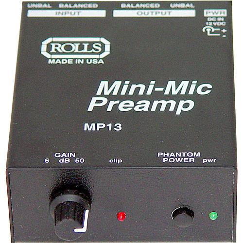 Rolls  MP13 Mini Microphone Preamp MP13