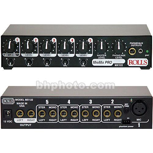Rolls  MX122 MiniMix Pro - Audio Mixer MX122, Rolls, MX122, MiniMix, Pro, Audio, Mixer, MX122, Video