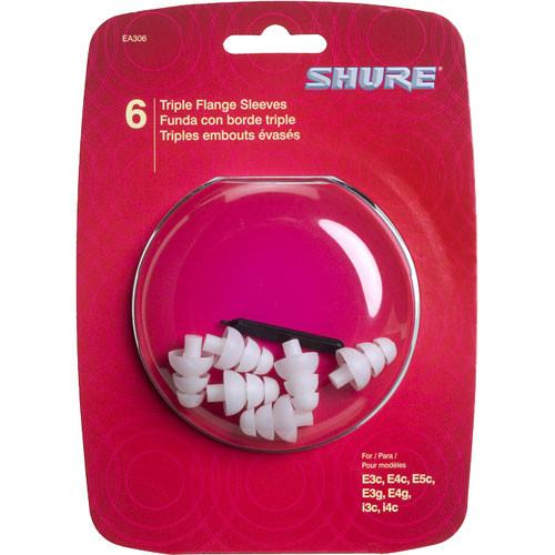 Shure EA306 - Triple Flange Sleeves (3 Pair) EATFL1-6