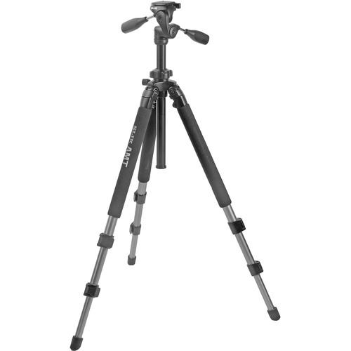 Slik Pro 500DX Tripod with 3-Way Pan/Tilt Head - Supports 10 lb