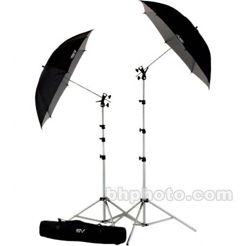Smith-Victor UK2 Umbrella Kit with RS8 Stands, 45BW 401484