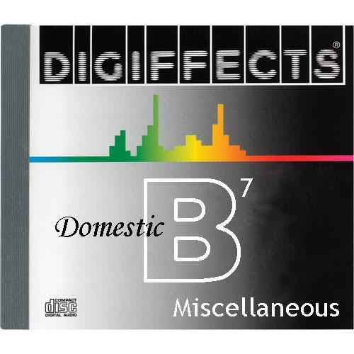 Sound Ideas Sample CD: Digiffects Domestic SFX - SS-DIGI-B-07