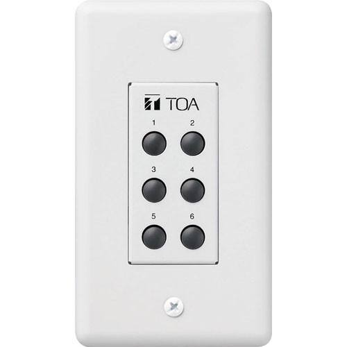 Toa Electronics ZM-9001 - 6-Switch Remote Panel for 9000 ZM-9001