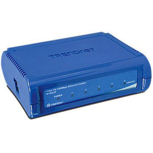 TRENDnet 5-Port 10/100 Mbps Fast Ethernet Switch TE100-S5