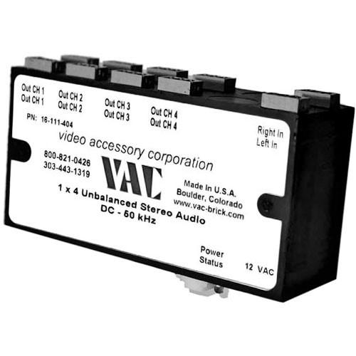 Vac 1x4 Unbalanced Mono Audio Distribution Amplifier 16-121-204