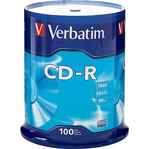 Verbatim  CD-R 700MB Disc (Spindle Pack of 100)