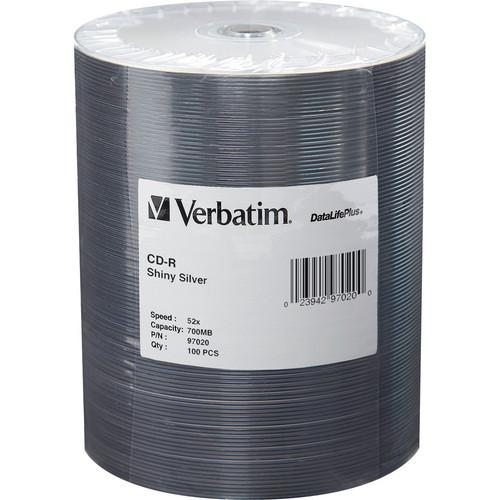 Verbatim CD-R 80 High Speed, Shiny Silver Compact Disc 97020