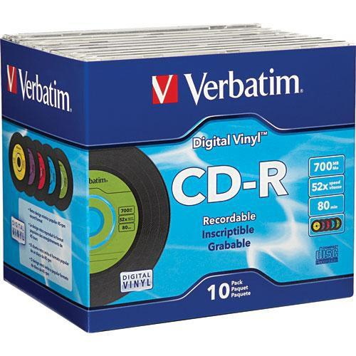 Verbatim CD-R Digital Vinyl Color Disc (10) 94439