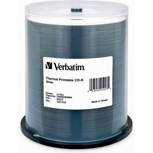 Verbatim  CD-R Thermal Printable Disc (100) 95253