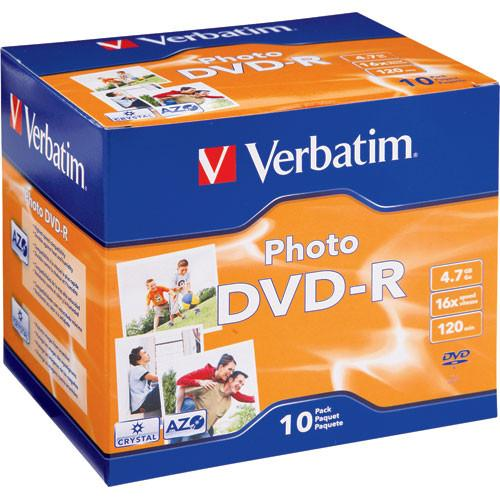 Verbatim DVD-R Recordable Photo Disc in Jewel Case 95536