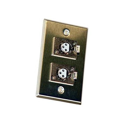 Astatic 40-348 Double 3-Pin XLR Female Wall Plate 40-348