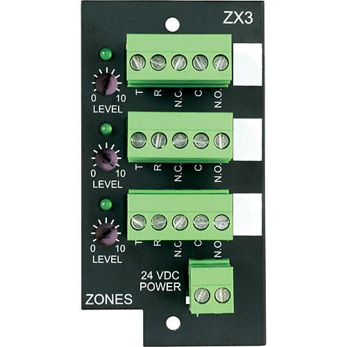 Bogen Communications ZX3 3-Zone Expansion Module for UT1312 ZX3