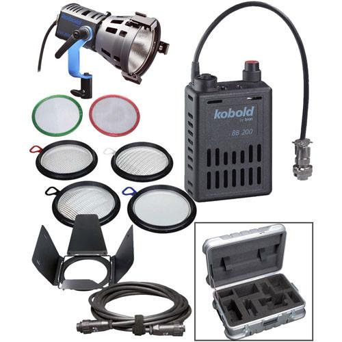 Bron Kobold DW200 PAR HMI DC Kit with Flight Case K-332-U096