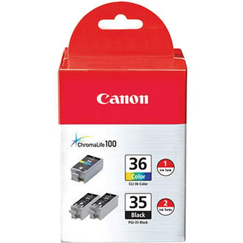 Canon Twin PGI-35 Black and CLI-36 Color Ink Tanks 1509B007