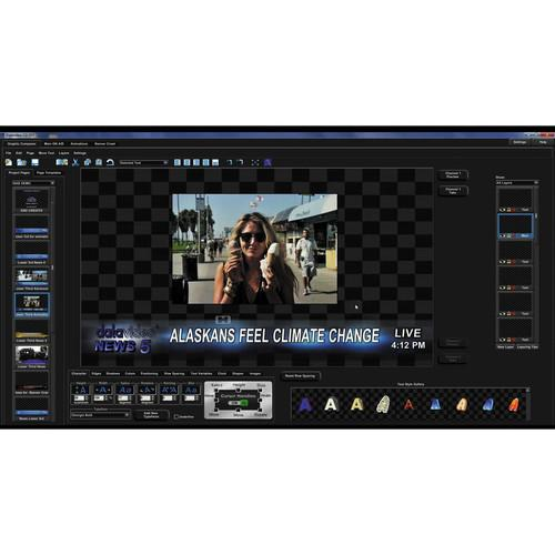 Datavideo CG-300 Character Generator for SD & HD CG-300 KIT