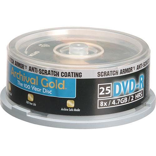 Delkin Devices DVD-R Archival Gold 'Scratch DDVD-R-SA/25 SPIN 8X