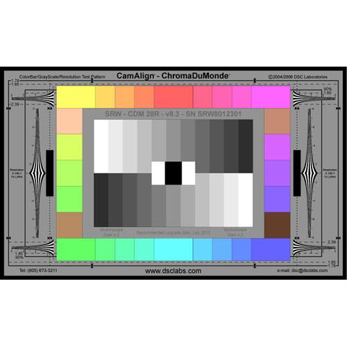DSC Labs ChromaDuMonde 28-R Senior CamAlign Chip Chart CDM28RS
