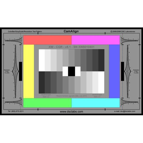 DSC Labs ColorBar/GrayScale Maxi CamAlign Chip Chart CGRM