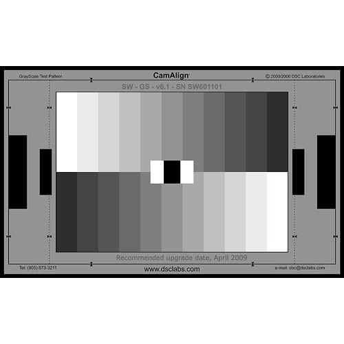 DSC Labs GrayScale Junior CamAlign Chip Chart GSJ