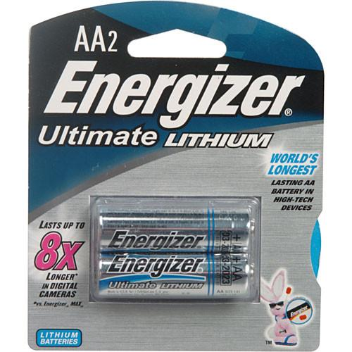 Energizer Ultimate Lithium AA Batteries (2-Pack) 57-EULAA2D