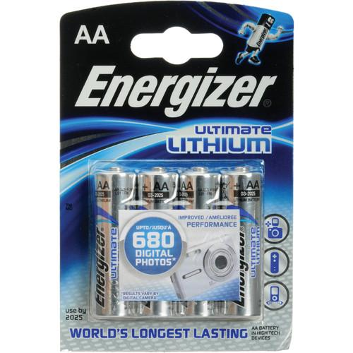 Energizer Ultimate Lithium AA Batteries (4-Pack) 57-EULAA4D