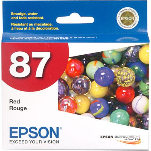 Epson  87 Red Ink Cartridge T087720