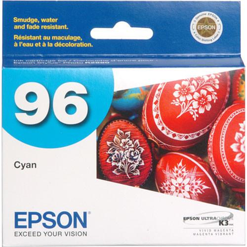 Epson 96 UltraChrome K3 Cyan Ink Cartridge T096220